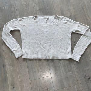 Banana Republic Oatmeal Crop Sweater S